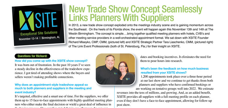September issue of ConventionSouth